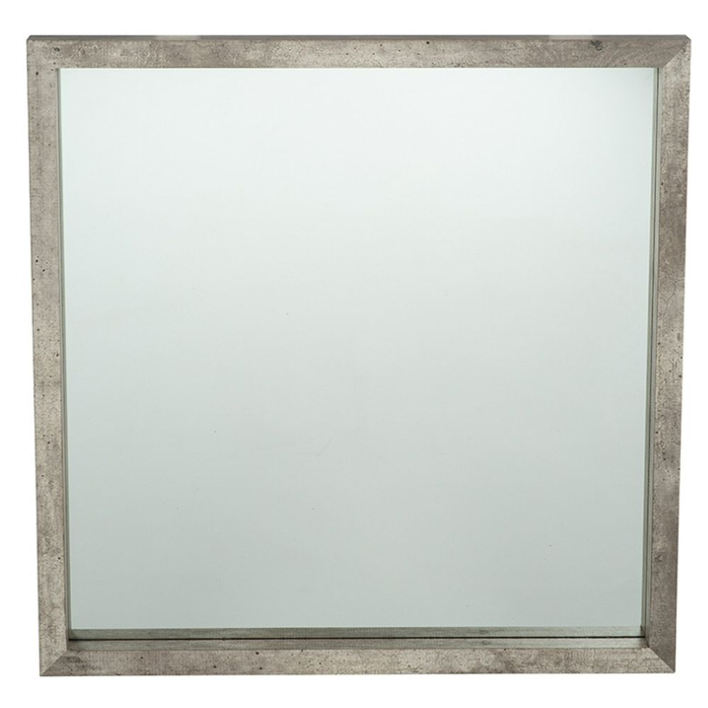 Pacific Lifestyle Concrete Effect Wood Veneer Square Mirror Small