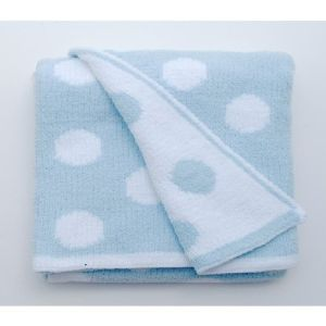 Walton & Co 76 x 100cm Blue Spot Knitted Softee Blanket