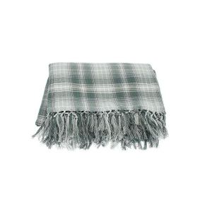 Walton & Co 178cm Scandi Plaid Throw - Eucalyptus Grey
