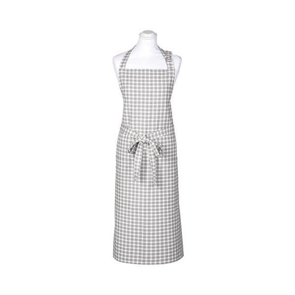 Walton & Co 95cm Portland Check Apron - Dove Grey