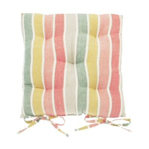 Walton & Co 38cm Sorrento Stripe Seat Pad With Ties