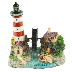 Armitages 17cm Ornamental Aquarium Lighthouse & Wheel