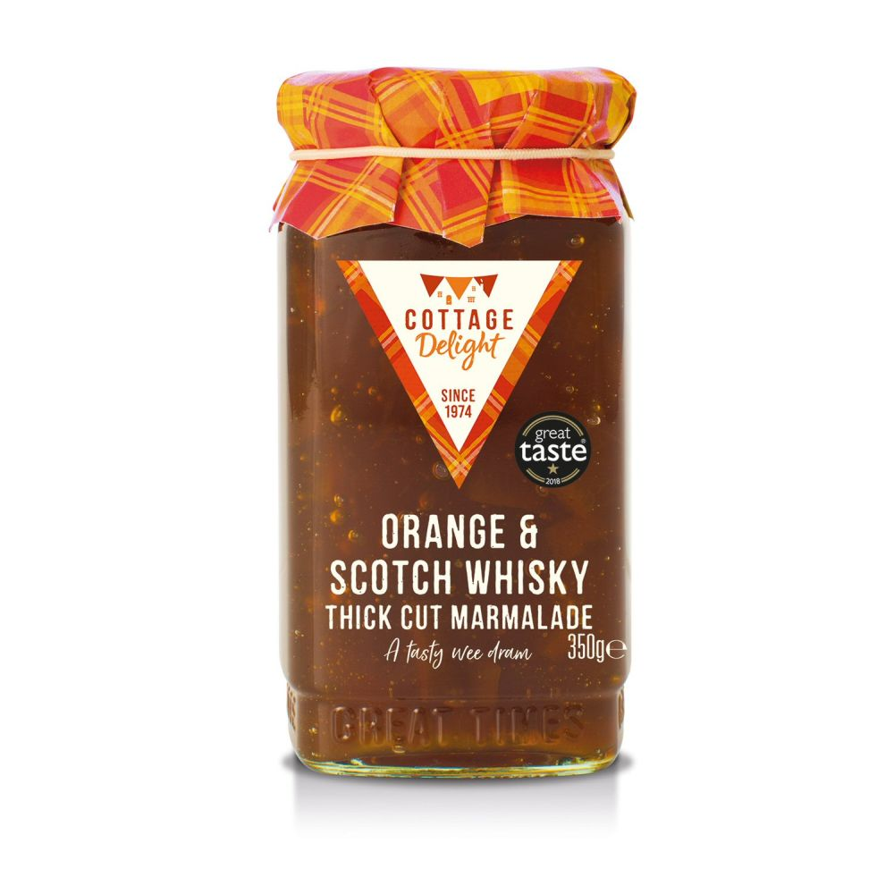 Cottage Delight Orange & Scotch Whisky Thick Cut Marmalade 350g