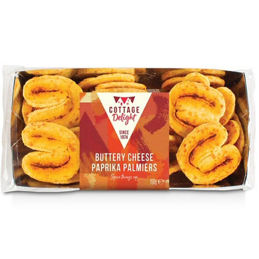 Cottage Delight 150g Buttery Cheese Paprika Palmiers