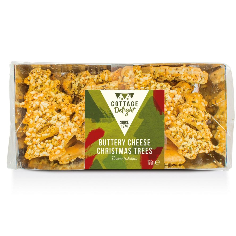 Cottage Delight 125g Buttery Cheese Christmas Trees