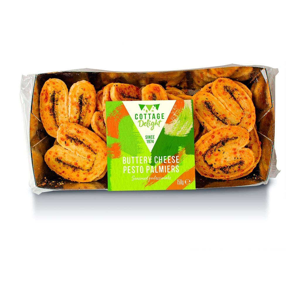 Cottage Delight 150g Buttery Cheese Pesto Palmiers