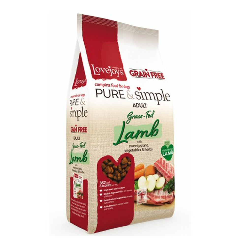 Lovejoys Hypoallergenic 2kg Pure & Simple Dry Grain Free Adult Lamb Do