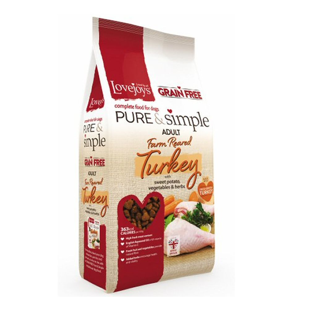 Lovejoys Hypoallergenic 2kg Pure & Simple Dry Grain Free Adult Turkey