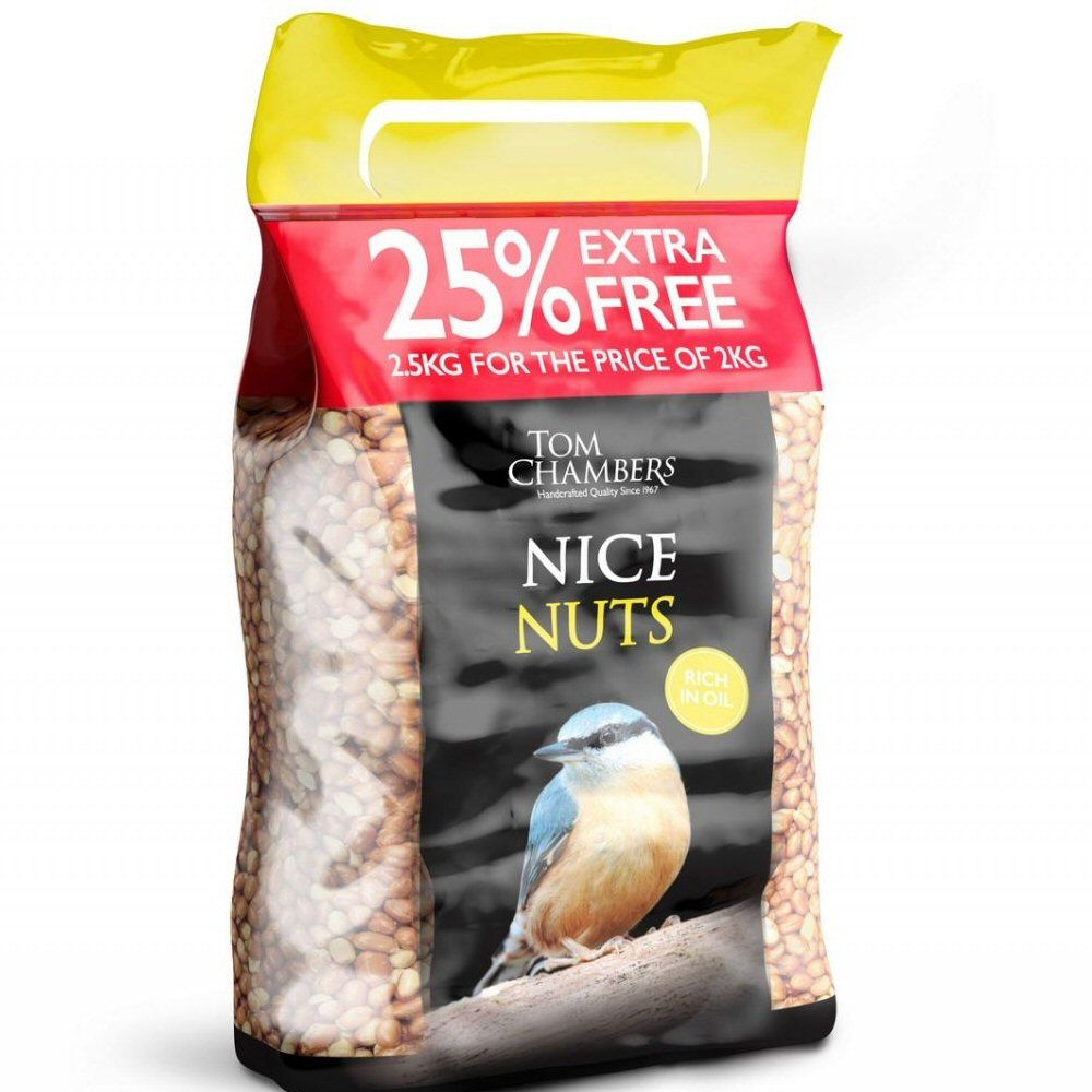 Tom Chambers 2kg Nice Nuts + 25% EXTRA FREE