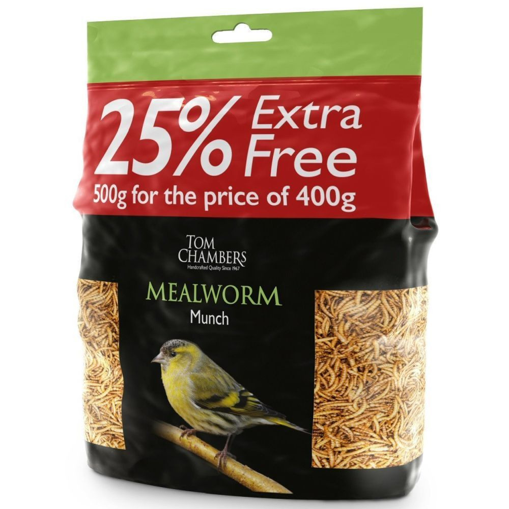 Tom Chambers 500g Mealworms