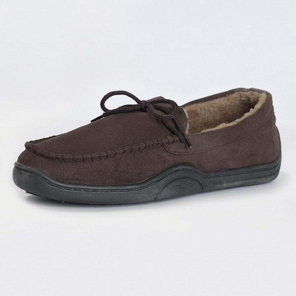 Jack Daw Mens Moccasin Slippers - Size 7