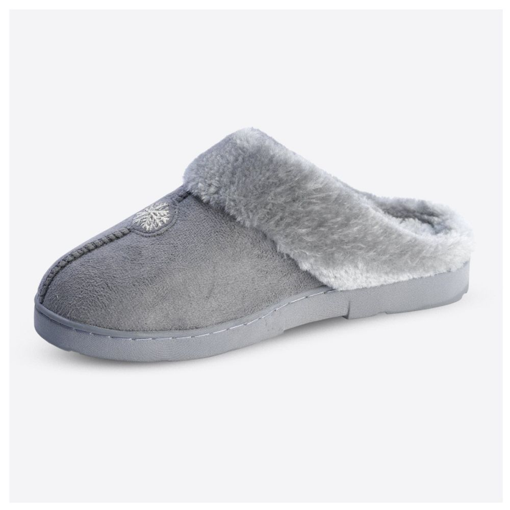 Jane Austin Grey Ladies Snuggle Slippers - Size 7