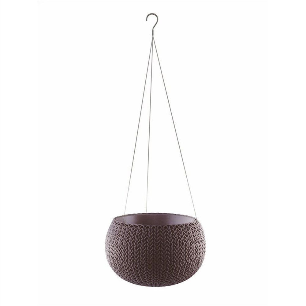 Stewarts 28cm Purple Cozies Planter with Chain