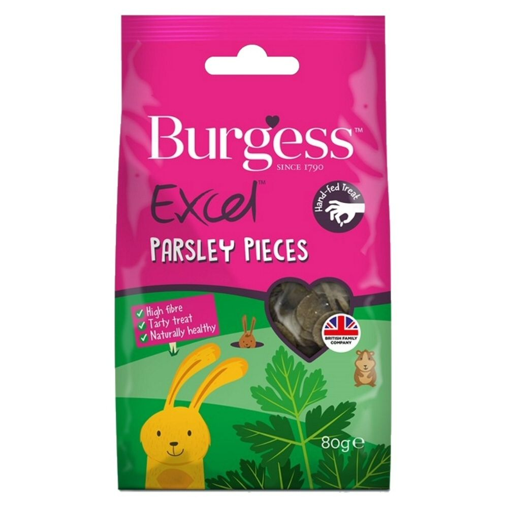 Burgess Excel Rabbit Treats - Parsely Pieces 80g