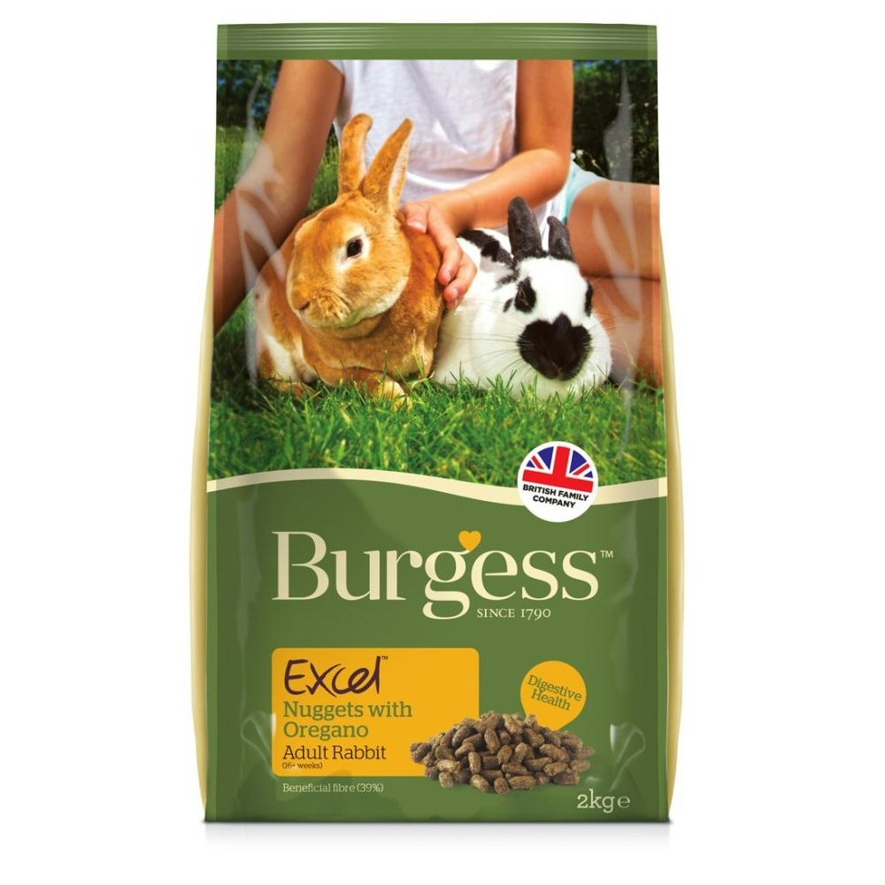 Burgess Excel Adult Rabbit Food - Nuggets with Oregano 2kg