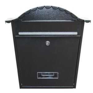 Gardman 37cm Black Traditional Post Box - 17250