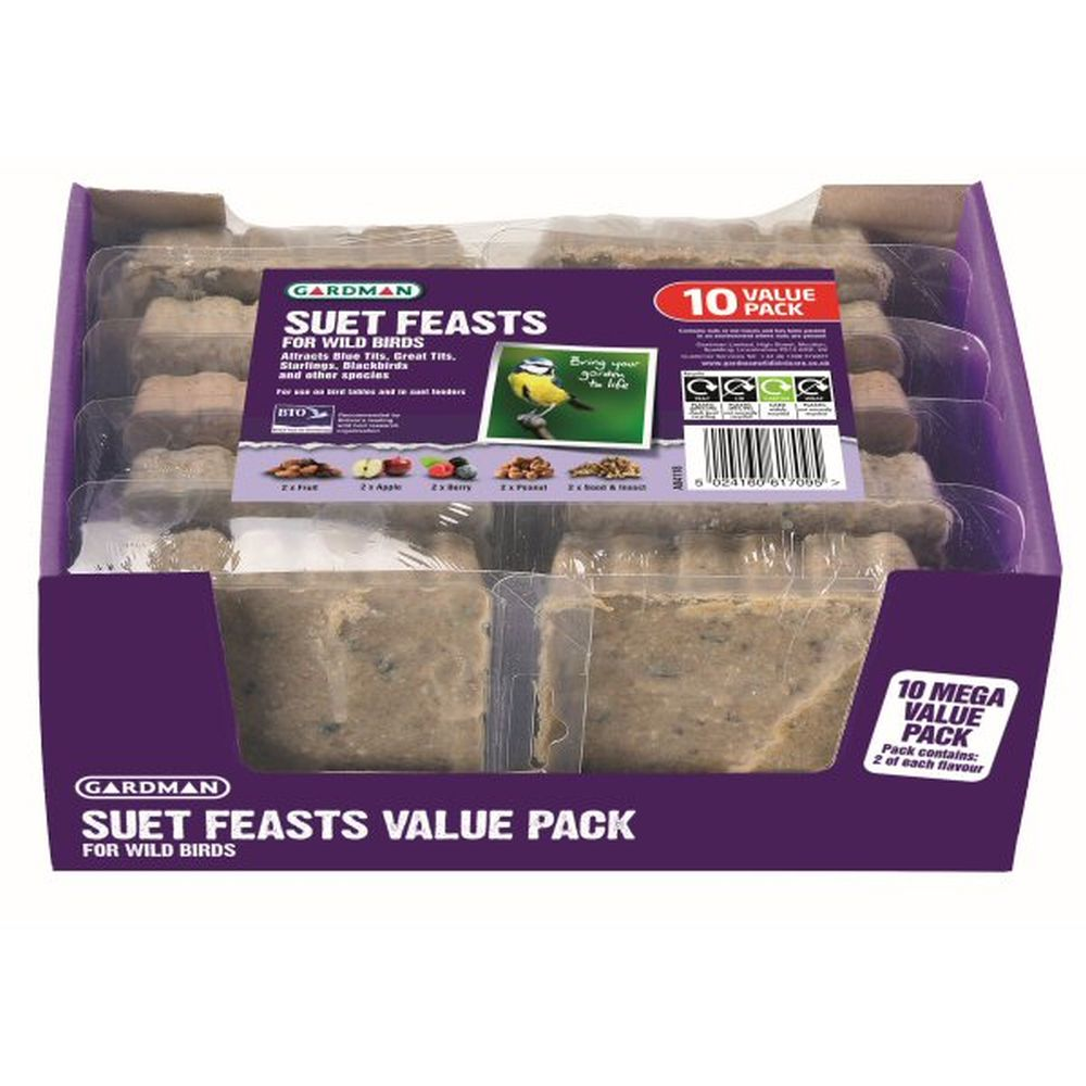 Gardman Wild Bird Suet Feast 10 Value Pack