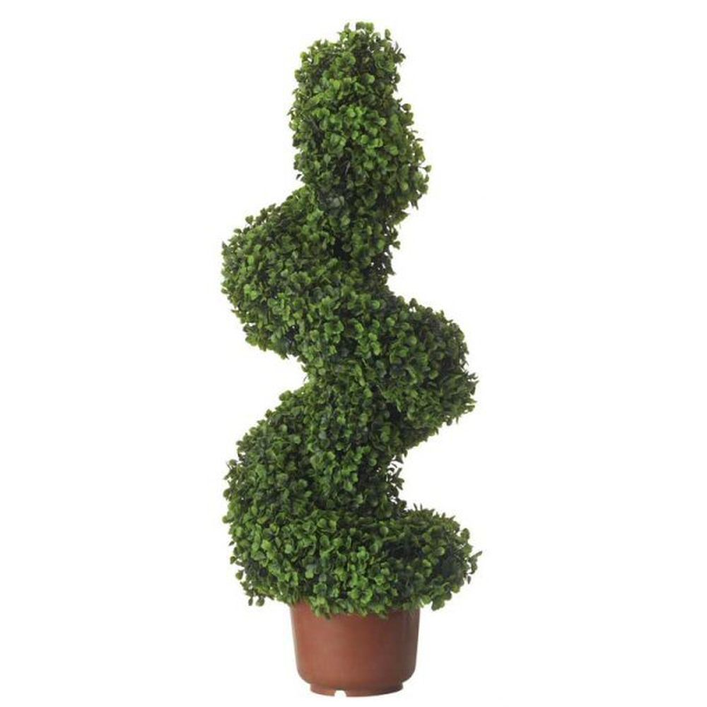 Gardman 80cm Artificial Topiary Swirl Border Pot Leaf Effect