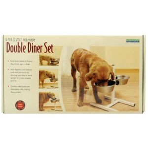 KONG Medium Adjustable Dog Double Diner Set