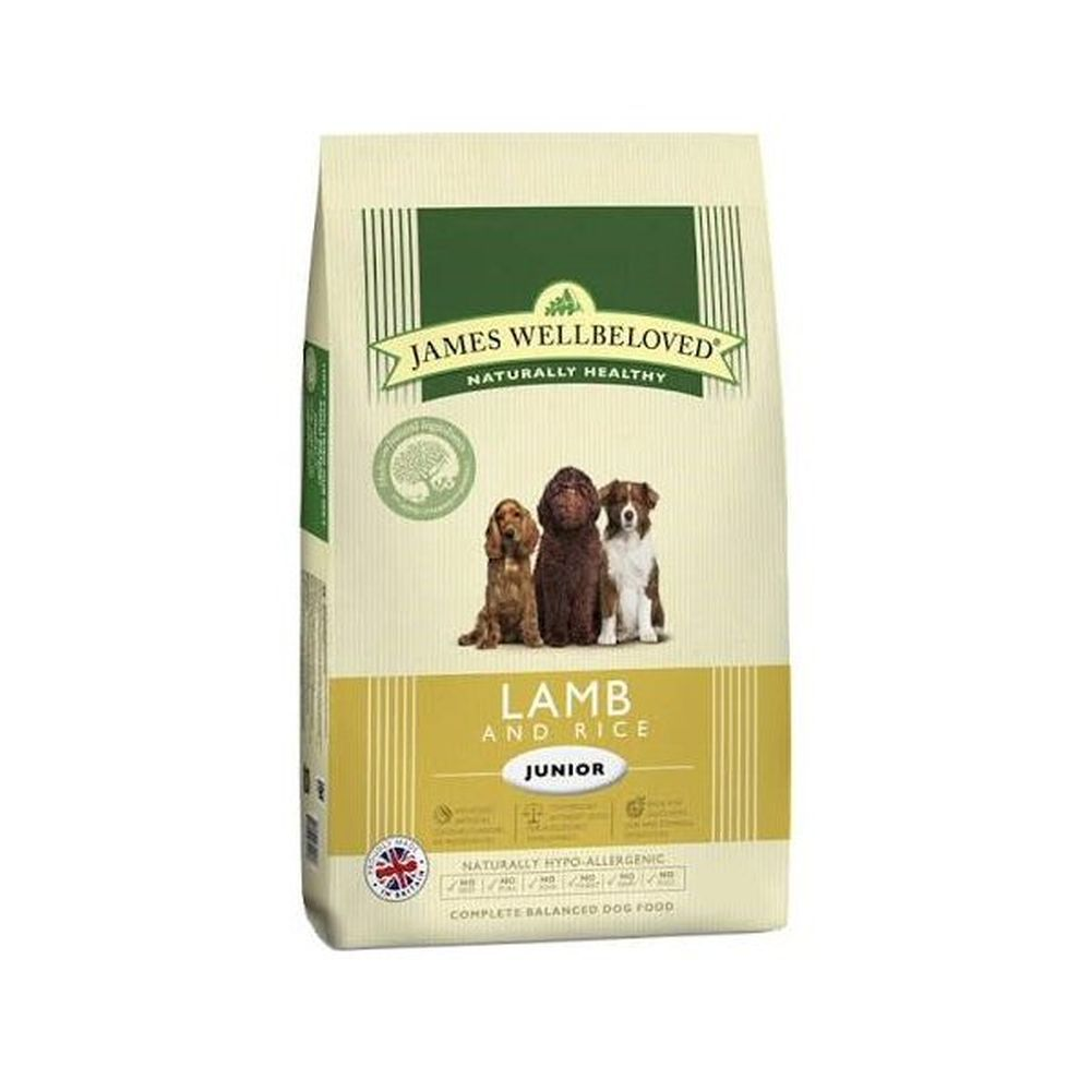 James Wellbeloved 2kg Lamb & Rice Junior Dry Dog Food