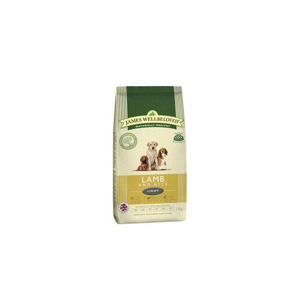 James Wellbeloved 1.5kg Lamb & Rice Light Adult Dry Dog Food