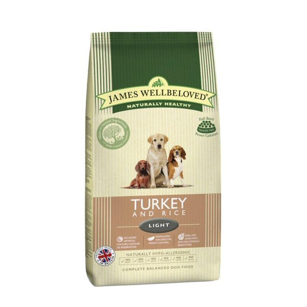 James Wellbeloved 1.5kg Turkey & Rice Adult Light Dry Dog Food