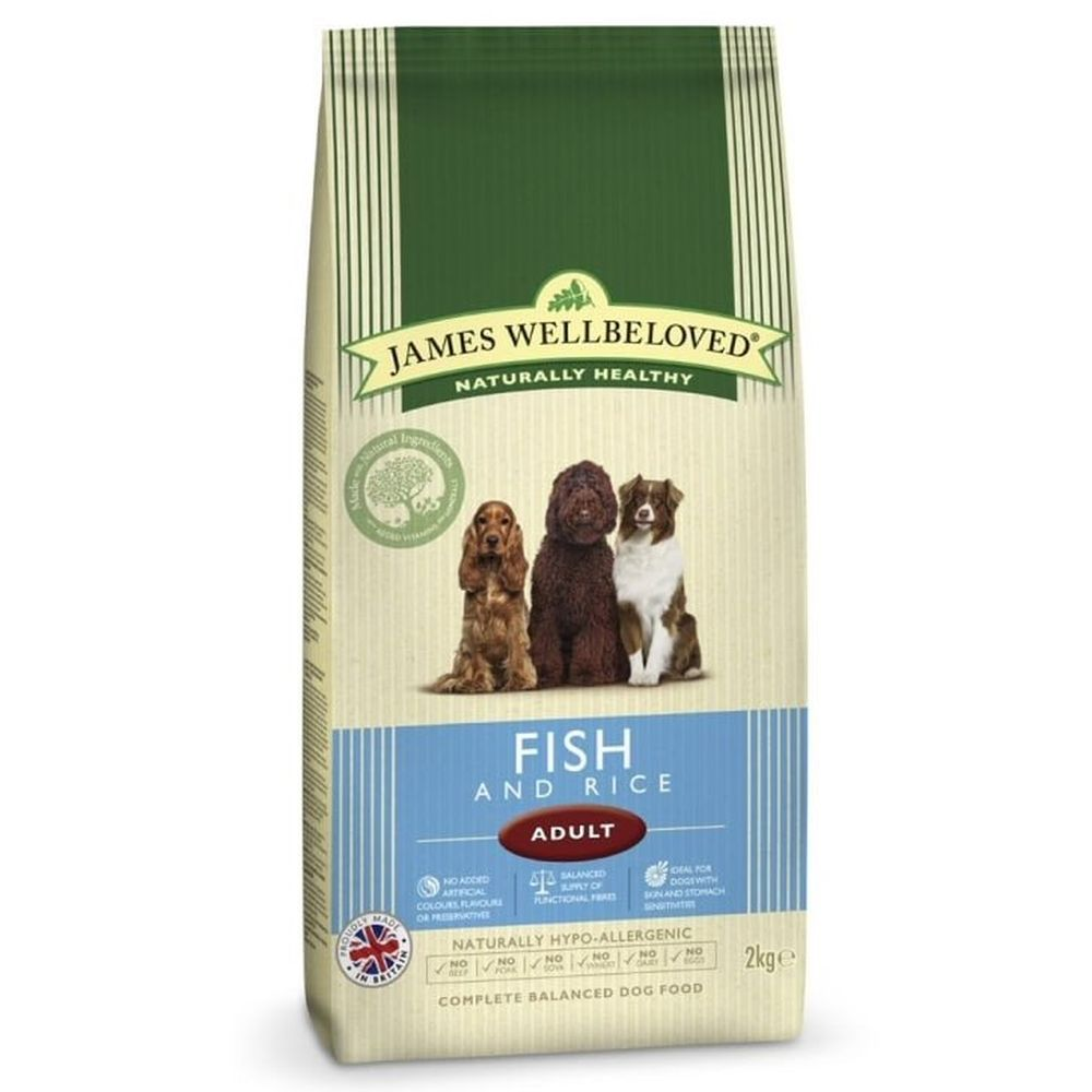 James Wellbeloved 2kg Fish & Rice Adult Dry Dog Food