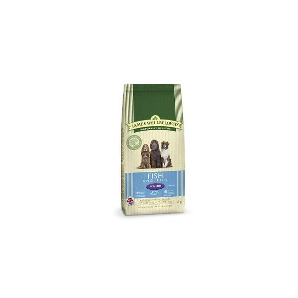 James Wellbeloved 2kg Fish & Rice Senior Dry Dog Food