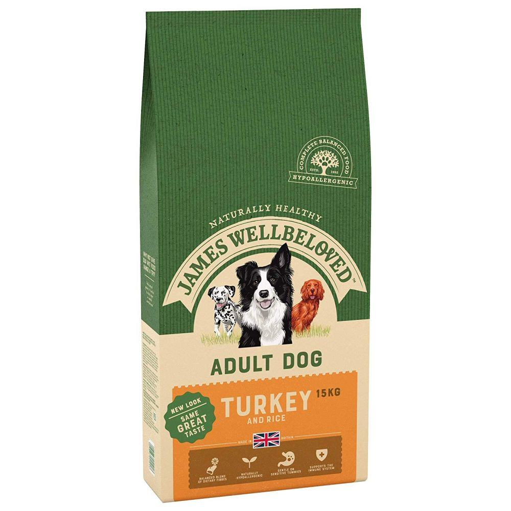 James Wellbeloved 15kg Turkey & Rice Adult Dry Dog Food