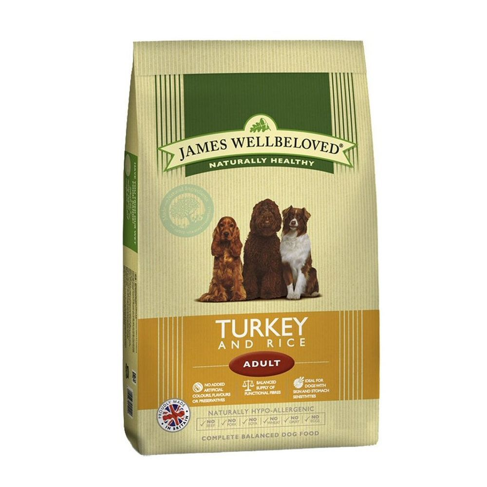 James Wellbeloved 2kg Turkey & Rice Adult Dry Dog Food