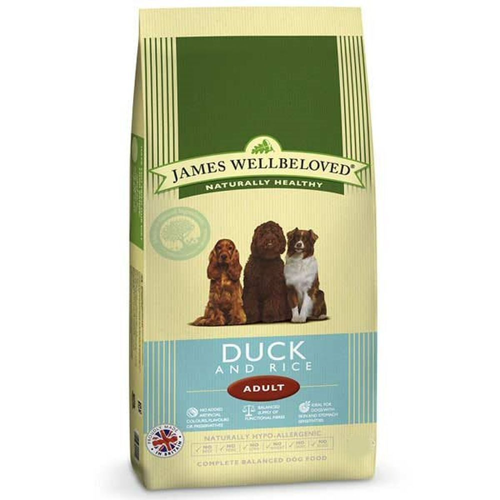 James Wellbeloved 2kg Duck & Rice Adult Dry Dog Food