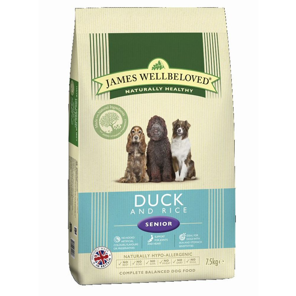James Wellbeloved 2kg Duck & Rice Senior Dry Dog Food