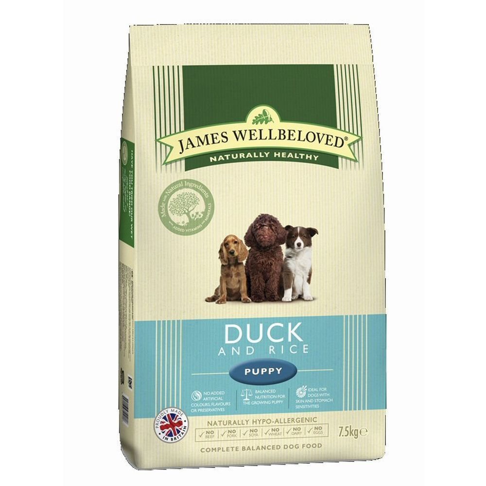 James Wellbeloved 2kg Duck & Rice Puppy Dry Dog Food