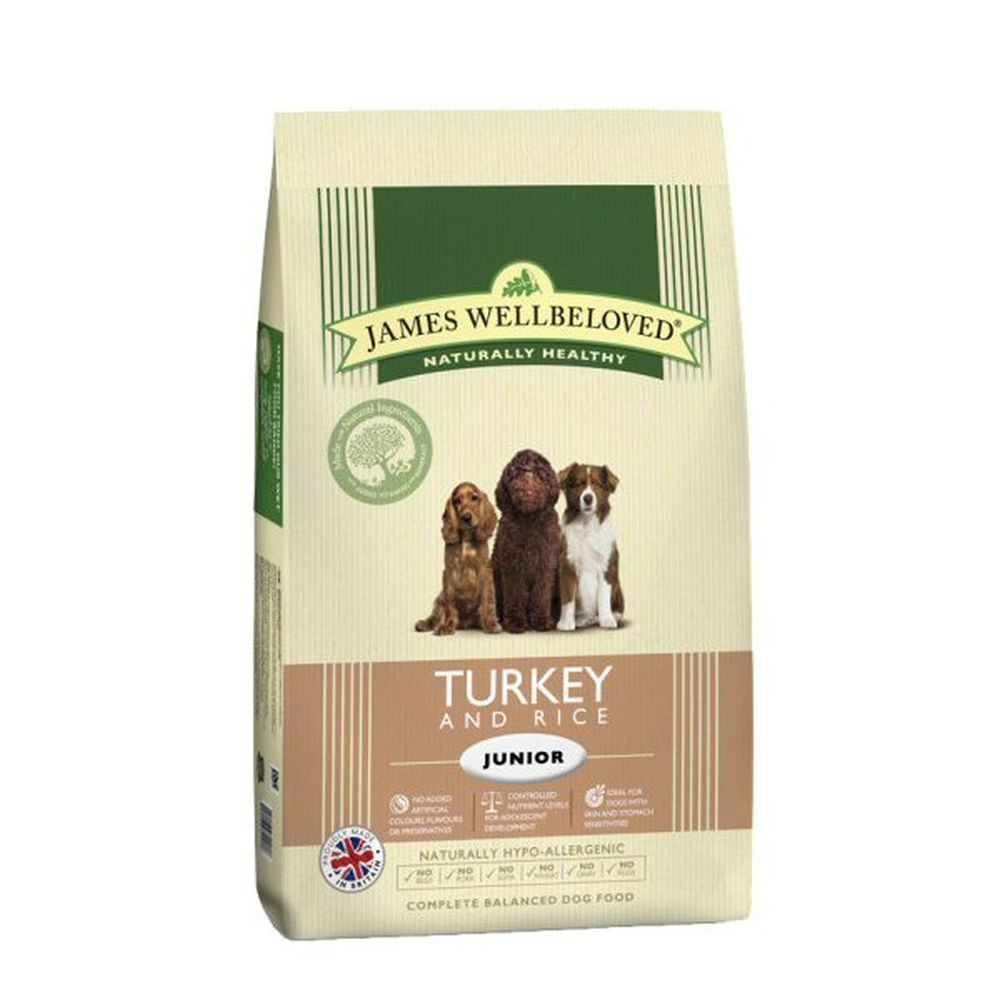 James Wellbeloved 2kg Turkey & Rice Junior Dry Dog Food