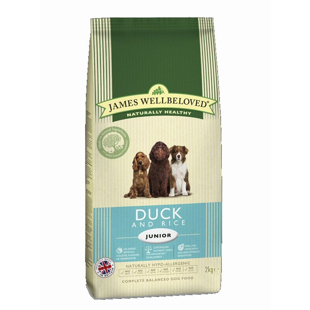 James Wellbeloved 2kg Duck & Rice Junior Dry Dog Food