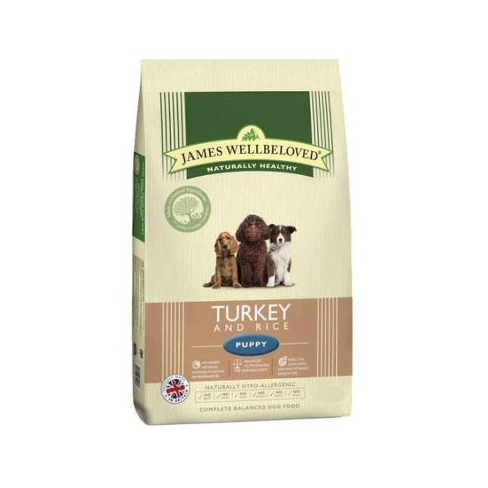 James Wellbeloved 2kg Turkey & Rice Puppy Dry Dog Food
