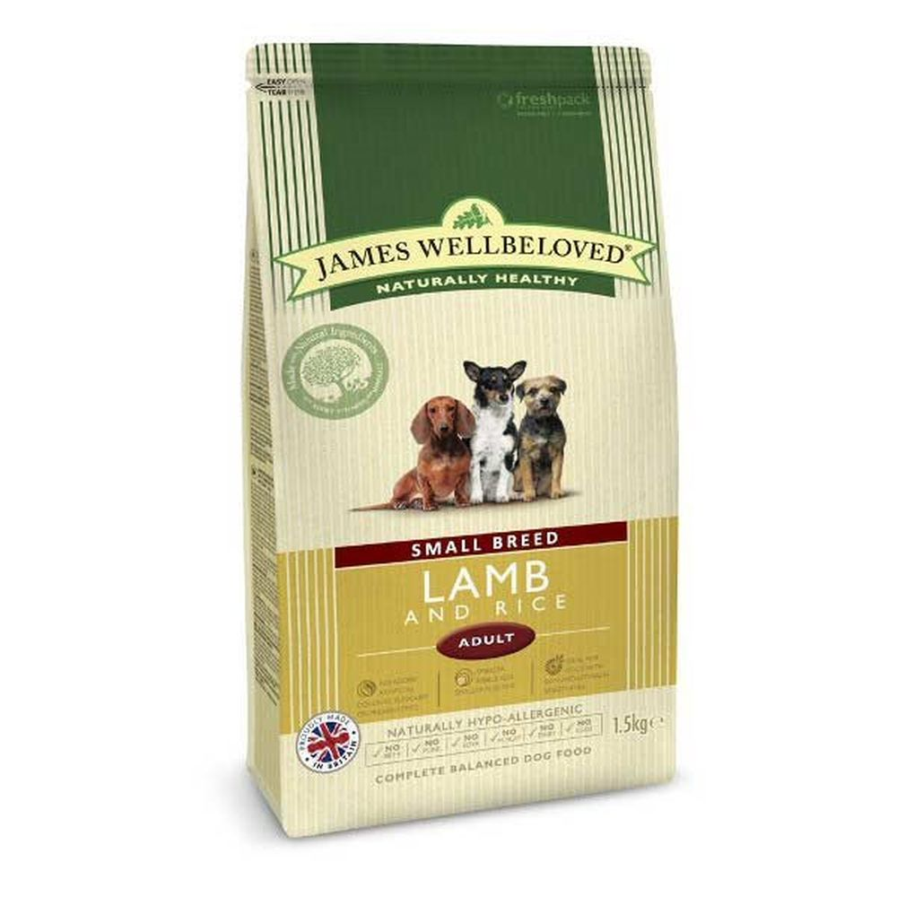 James Wellbeloved 1.5kg Lamb & Rice Small Breed Adult Dry Dog Food