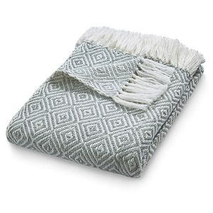 Hug Rug 130 x 180cm Sky Grey Woven Diamond Throw