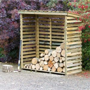 Zest 4 Leisure 1.7m Large Log Store with Back