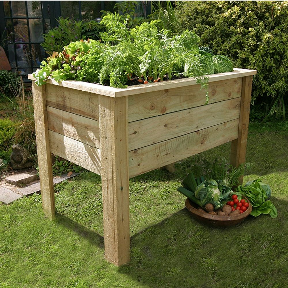 Zest 4 Leisure 1m Deep Root Wooden Planter