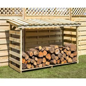 Zest 4 Leisure 1.84m Large Wooden Log Store