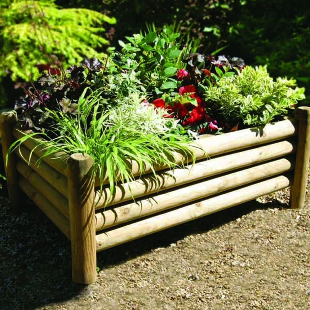 Zest 4 Leisure Shrewsbury Wooden Garden Planter