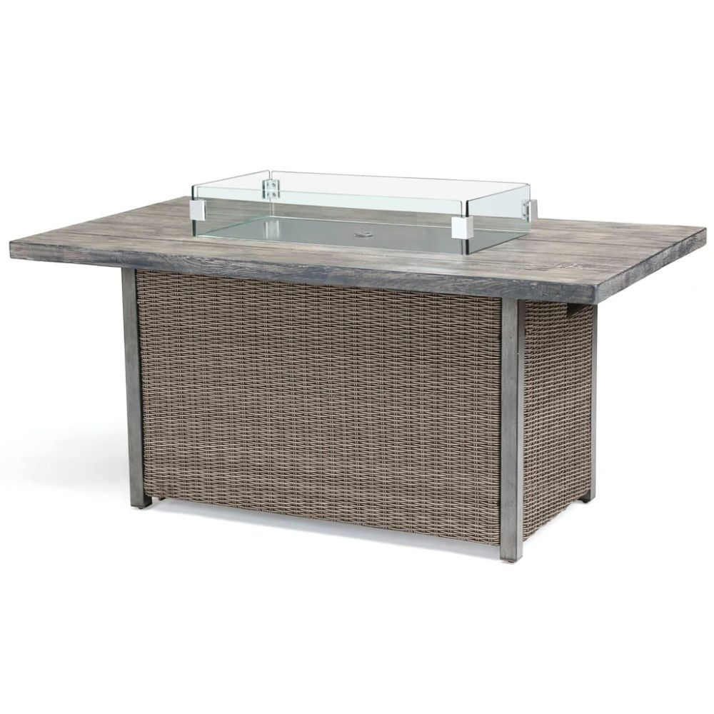 Kettler Palma Rattan Fire Pit Table