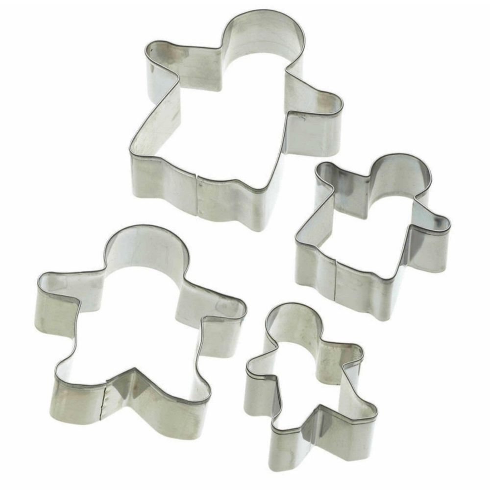 Kitchencraft Set of 4 Gingerbread Cookie Cutters