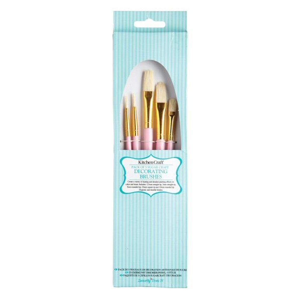 Sweetly Does It Sugarcraft Decorating Brushes (Pack of 5)