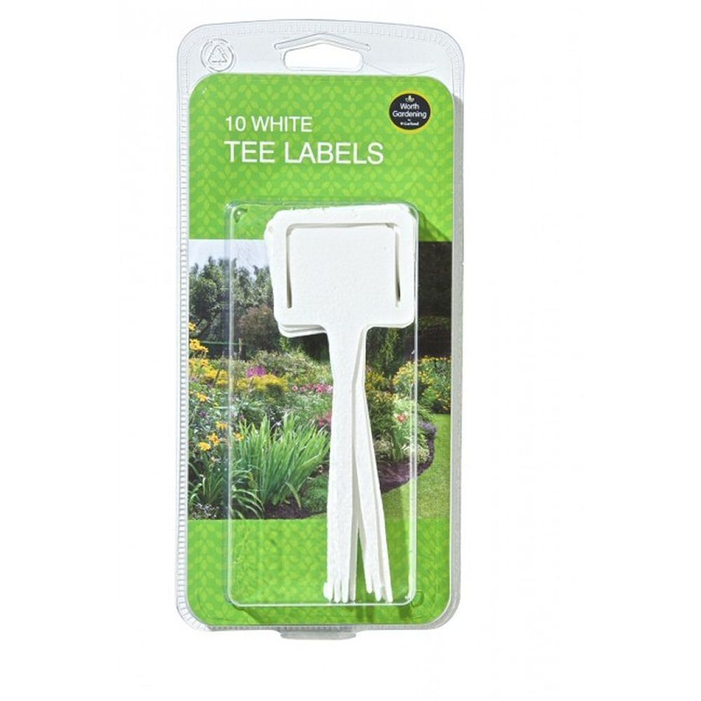 Garland White Tee Labels (Pack of 10)