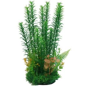Betta 23cm Green & Yellow Plastic Plant - PP633