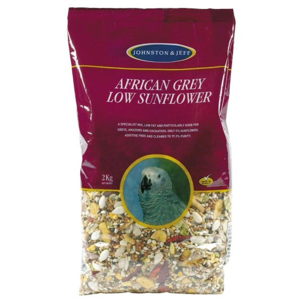 Johnston & Jeff 2kg African Grey Low Sunflower Feed