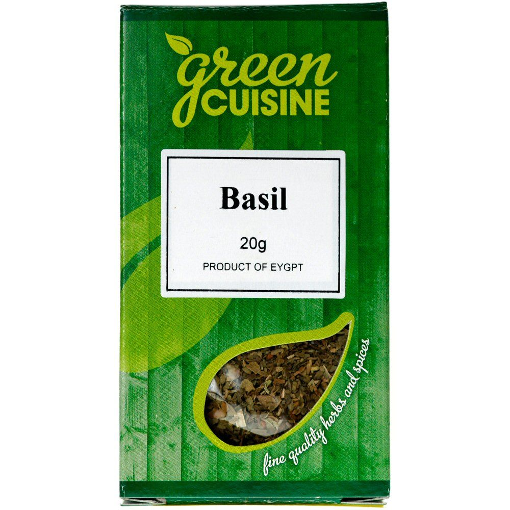 Green Cuisine 20g Rubbed Basil
