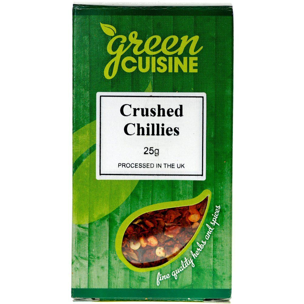 Green Cuisine 25g Crushed Chillies
